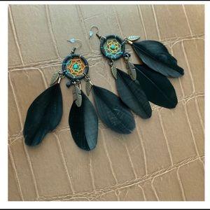 Ole Black Dream Catcher Earrings